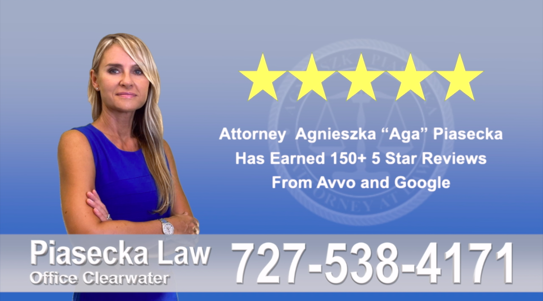 Polish Immigration Attorney Agnieszka, Aga, Piasecka, Client, reviews, avvo google five star, 5-star, superb, best attorney